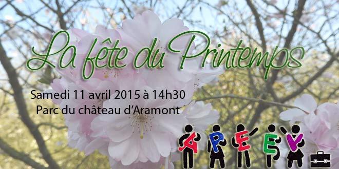 La fête du printemps c'est samedi 11 avril 2015 à partir de 14h30 dans le parc du château