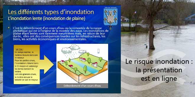 La présentation faite le 15 mai sur le risque inondation est en ligne