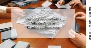 Résultats du 2ème tour de l'élection présidentielle pour la ville de Verberie