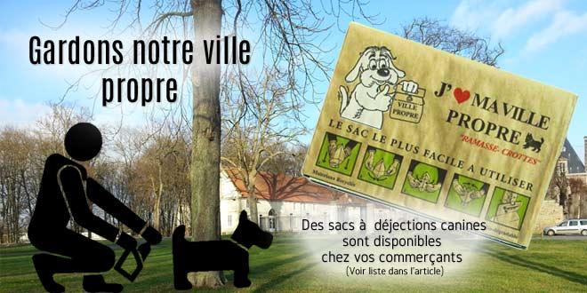 Des sacs pour déjections canines sont disponibles chez des commerçants de Verberie