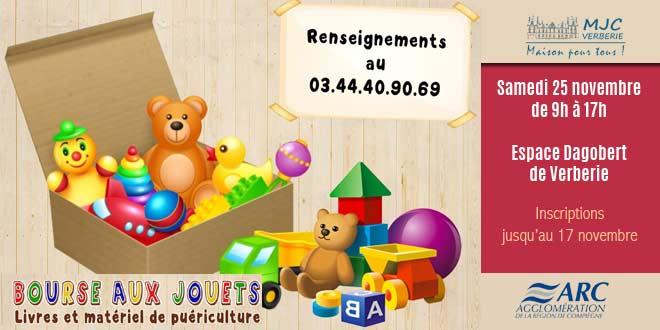 Venez vendre vos jouets à la bourse aux jouets de la MJC de Verberie