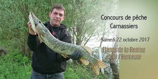 Concours de pêche carnassiers aux étangs de Verberie le 22 octobre 2017