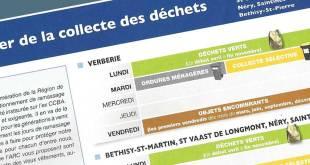 Planning 2018 de collecte des déchets ménagers