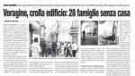 Aggiornamento su crollo palazzina S. Antonino a Sant'Antimo(NA)