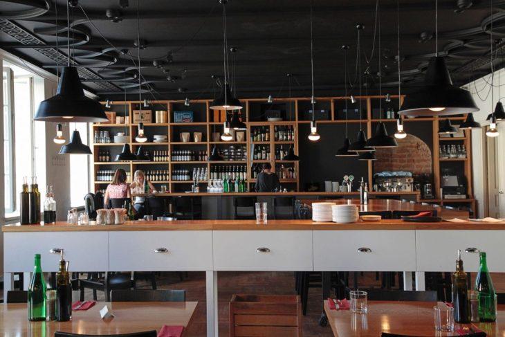 Inside Kitchen restaurant in Vilnius