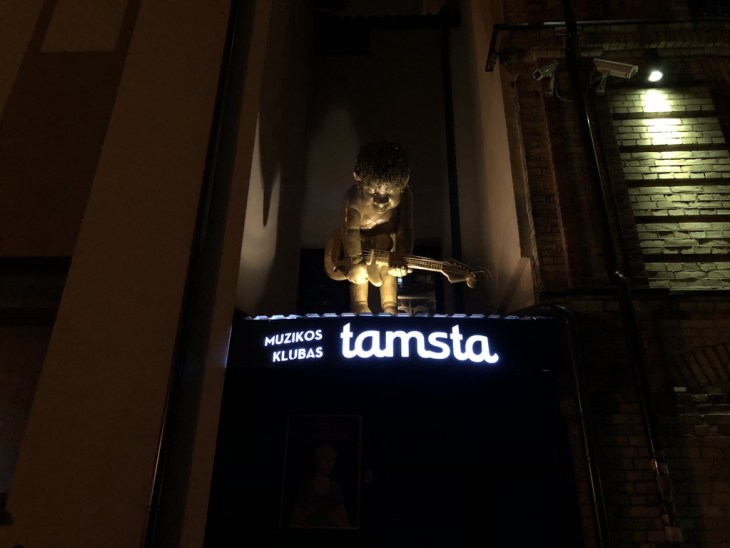 Entrance of to a music club Tamsta in Vilnius