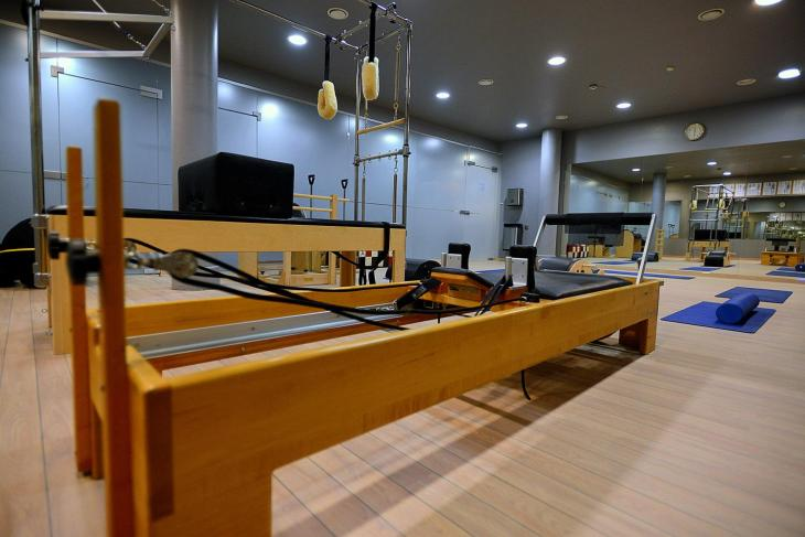 Pilates equipment at FitLife gym in Vilnius