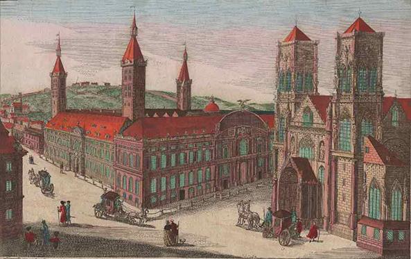 De voormalige Sint-Lambertuskathedraal te Luik was de hoofdkerk van het prinsbisdom Luik. Op de tekening zien we rechts de kathedraal, naast het bisschoppelijk paleis (de tekening werd gemaakt in de 18e eeuw). De kerk werd afgebroken tijdens de Franse Revolutie (eind 18e eeuw). In Luik bleef er, letterlijk en figuurlijk, een gat in het hart van de stad. Het duurde tientallen jaren voordat het nieuw ontstane plein een nieuwe bestemming kreeg. De lege plek waar de kathedraal stond heet nu Place Saint-Lambert.