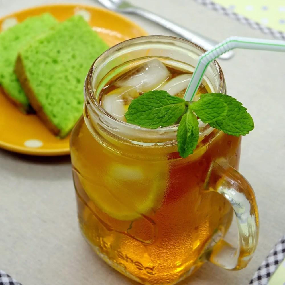 a cup of mint tea