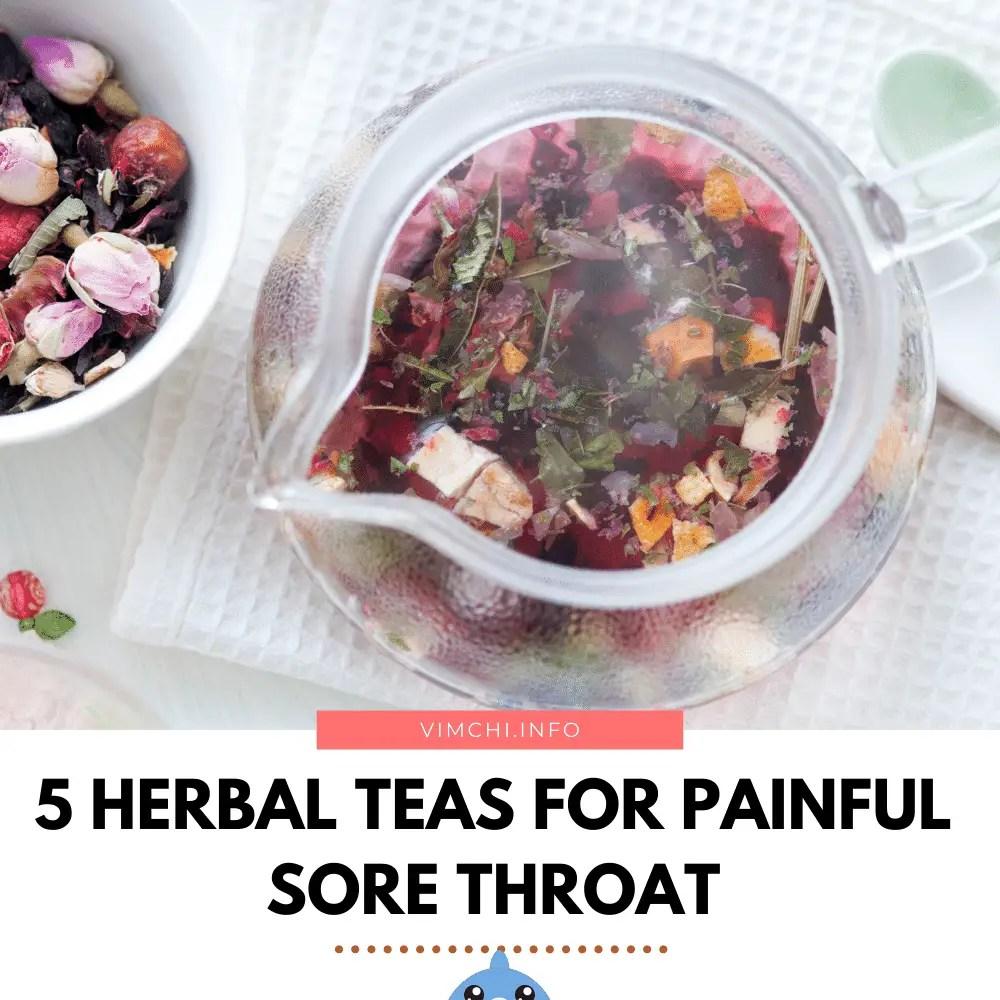 herbal tea for sore throat