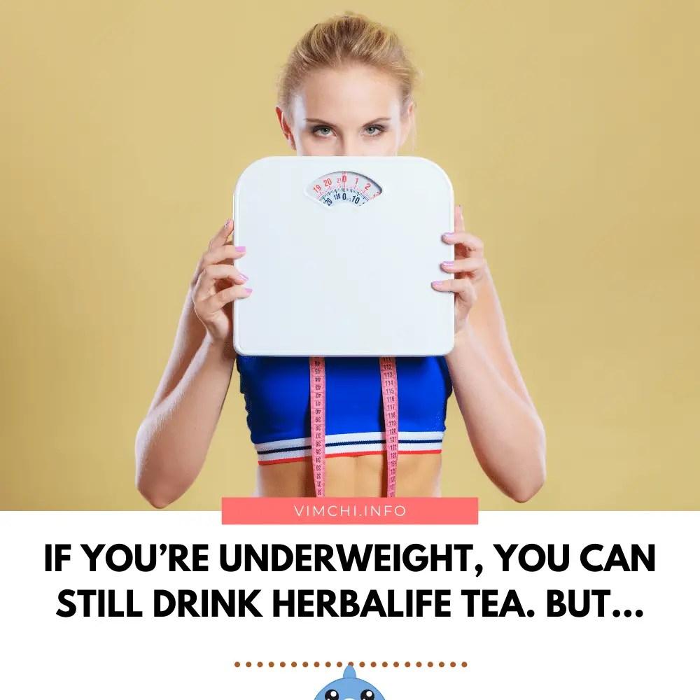 herbalife tea for underweight
