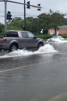 Coastal flooding is of growing concern across Tidewater Virginia and  in other coastal areas worldwide.. © J.D. Loftis/VIMS.