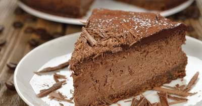 Cheesecake au chocolat et vin s'associant au Recioto della Valpolicella