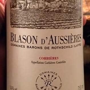 Exemple d'étiquette de vin d'une AOC Corbières