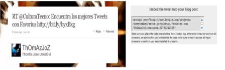 tweetembed Agrega Tweets En Tu Blog