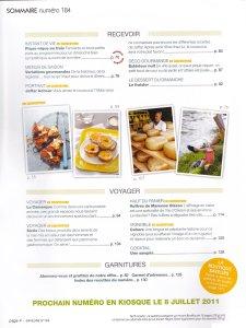 Saveurs 184 - Le Magazine de l'Art de Vivre Gourmand - sommaire suite
