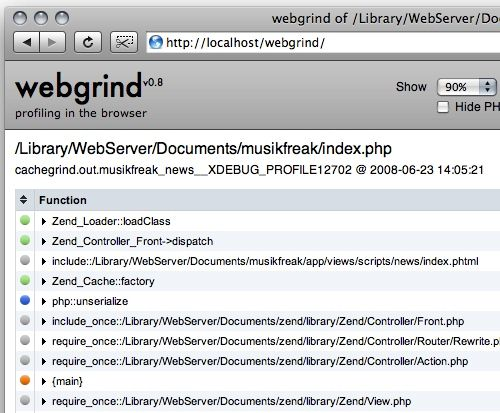Installing webgrind with xdebug profiling on Mac OSX with AMPPS