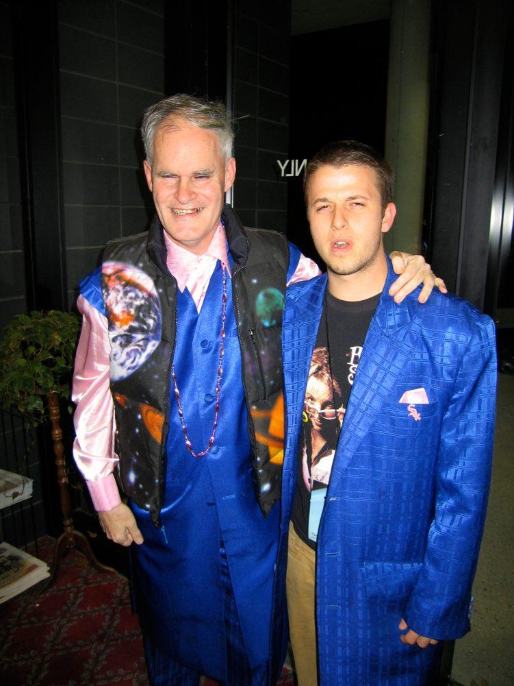 Trading coats!
