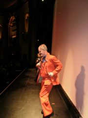 Vincent begins his show at the Virginia Theater.