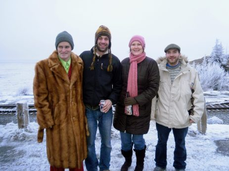 Vincent and Jennifer with friends at Beluga Point.