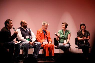 Ebertfest panel with Richard Roeper, Omer Mozaffar, Vincent, Jennifer and Christine.
