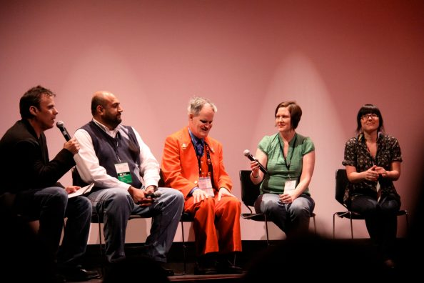 Ebertfest panel with Richard Roeper, Omer Mozaffar, Vincent, Jennifer and Christine.