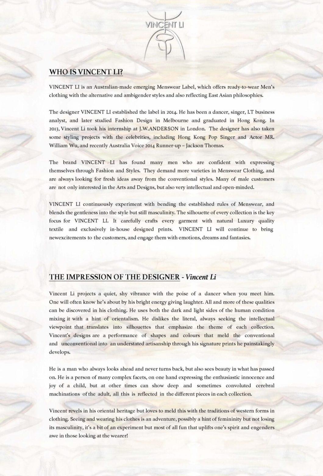 VINCENT LI - SS16 MENS - PRESS RELEASE_Page_2