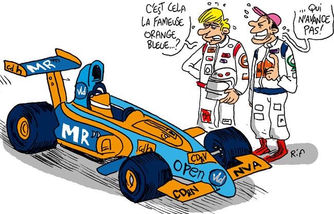 Grand Prix de Belgique de F1 Orange-bleu