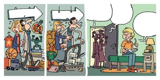 Strip humoristique Le désordre pour les éditions Averbode.
