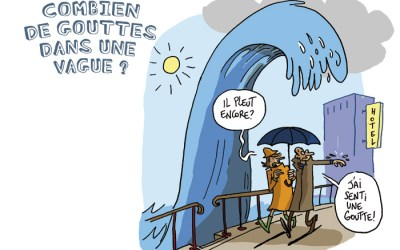 La goutte et la vague
