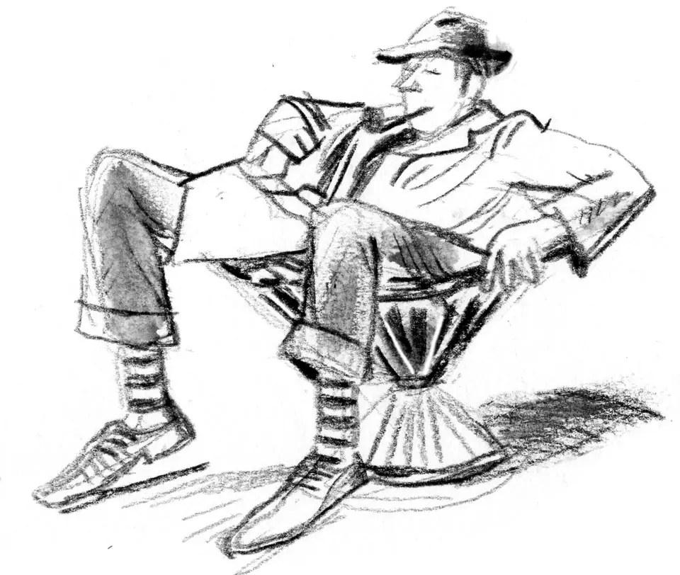 Portrait de Jacques Tati dans Mon Oncle
