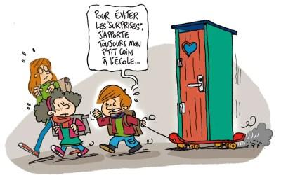 Illustration sur les toilettes dans les écoles