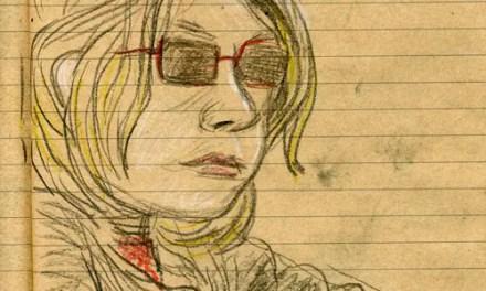 Charlotte dessine au soleil