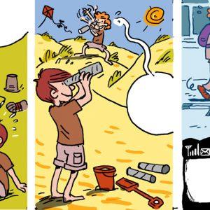 Petit bande dessinée sur le thème de l'amitié et de la communication pour une revue jeunesse. © Vincent Rif