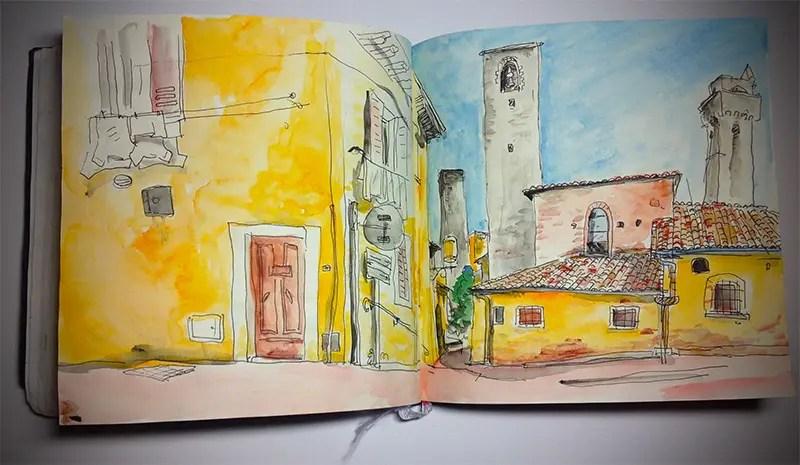 Extrait de mon carnet de voyage en Toscane. Eté 2014.