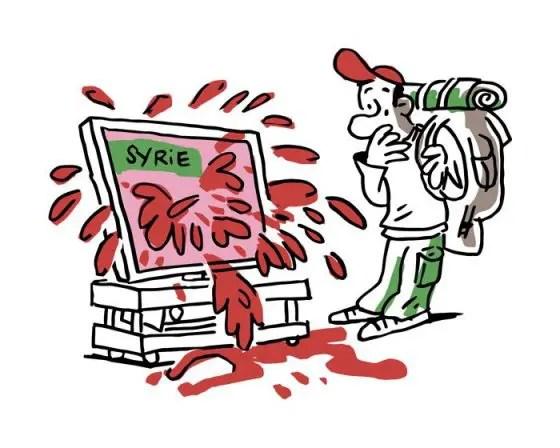 """Logo et visuel pour l'opération 'Quand les jeunes parlent de la Syrie"""""""