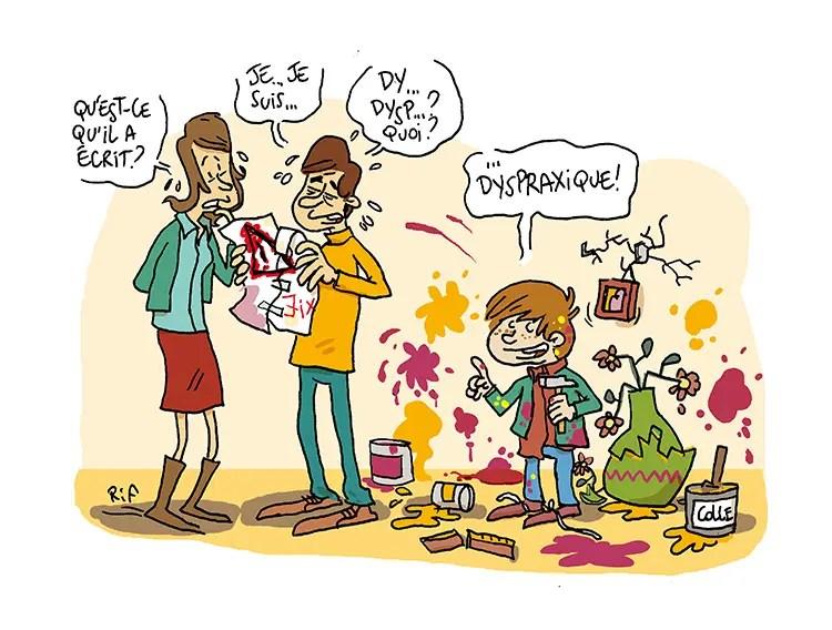 Illustration sur la dispraxie publié dans En Marche