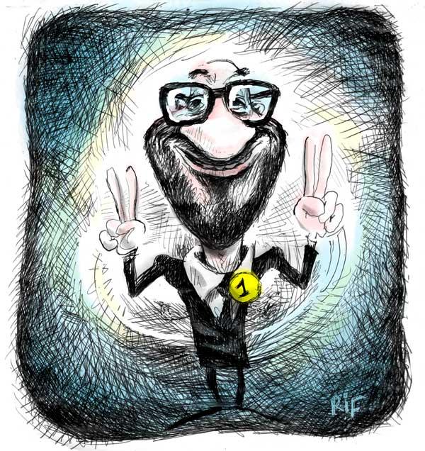 Caricature de Charles Michel, premier ministre belge