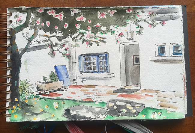 Le jardin de la location à Carnac
