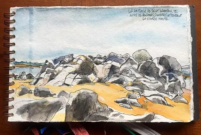 Carnac - la plage • Carnet de voyagede Vincent Rif