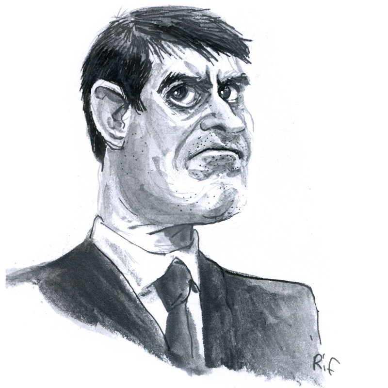 caricature de Manuel Valls