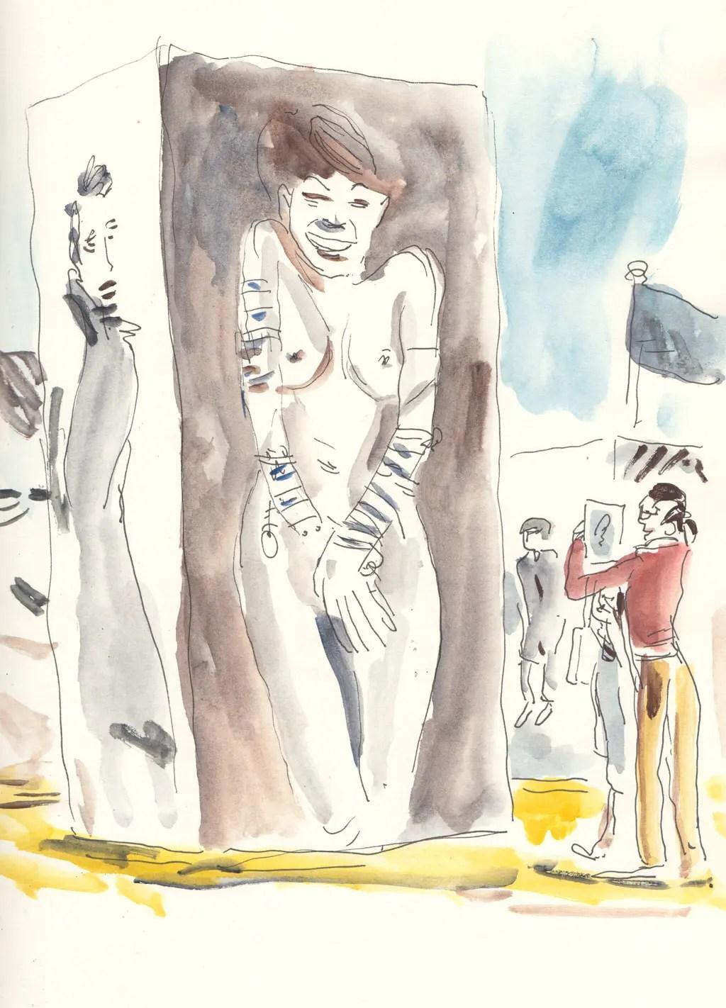 Extrait de carnet de voyage de Vincent Rif à Deauville-Trouville