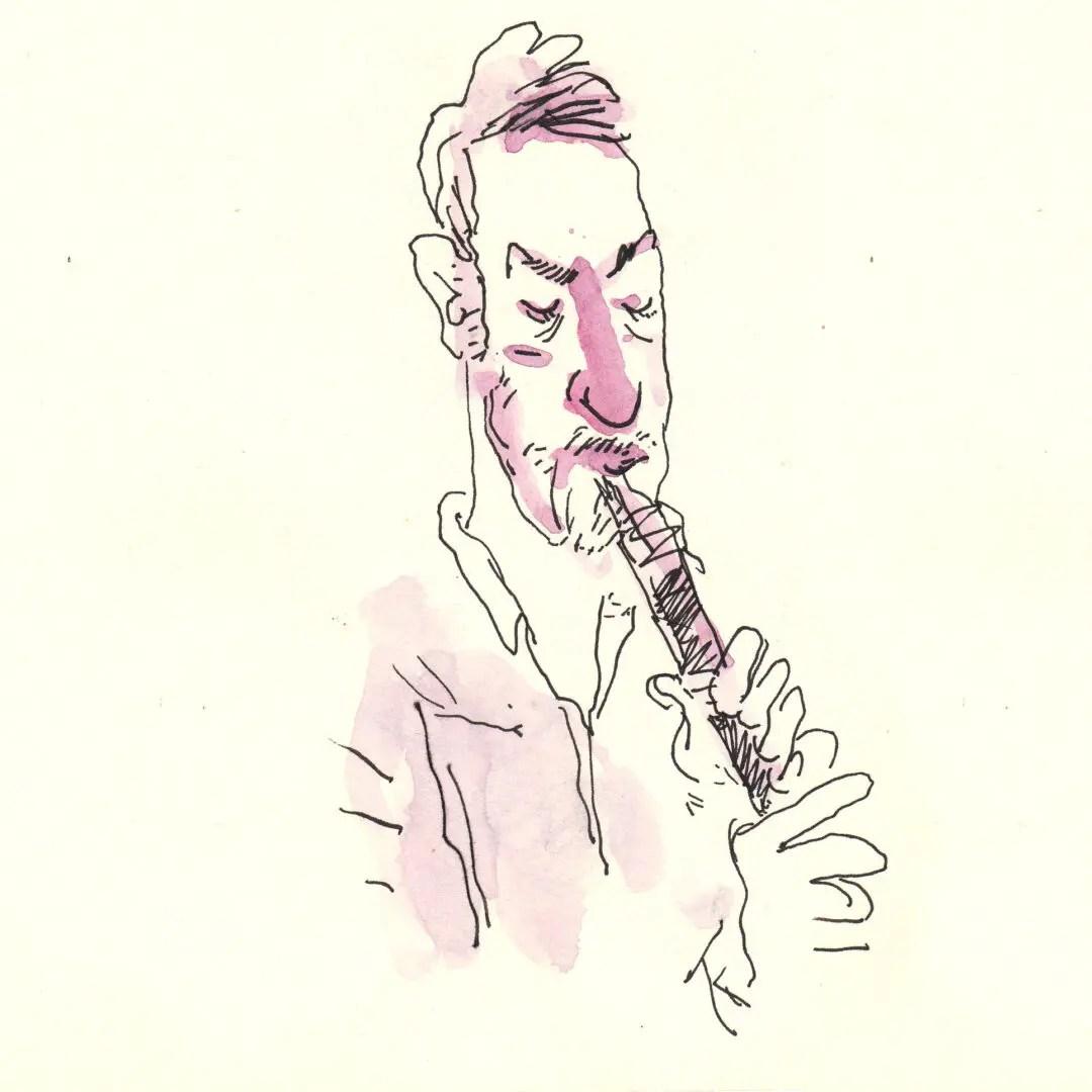 Croquis du concert de Sam Gerstmans
