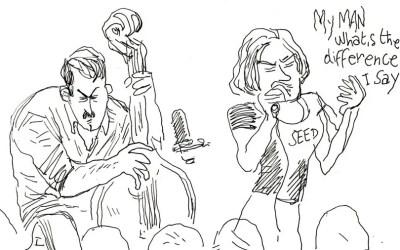 Sam Gerstmans, un concert de jazz dessiné sur le vif