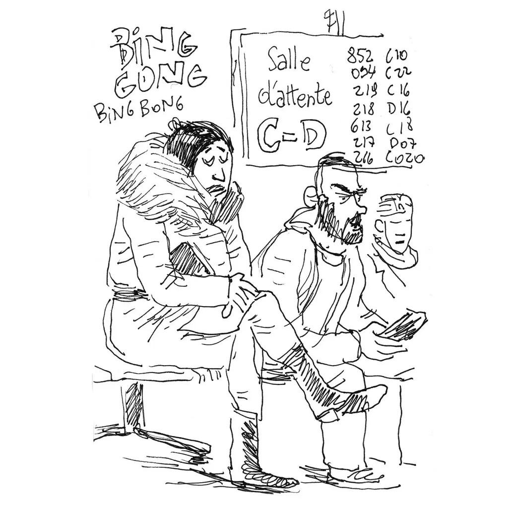 SPF Finances, au Botanique - croquis