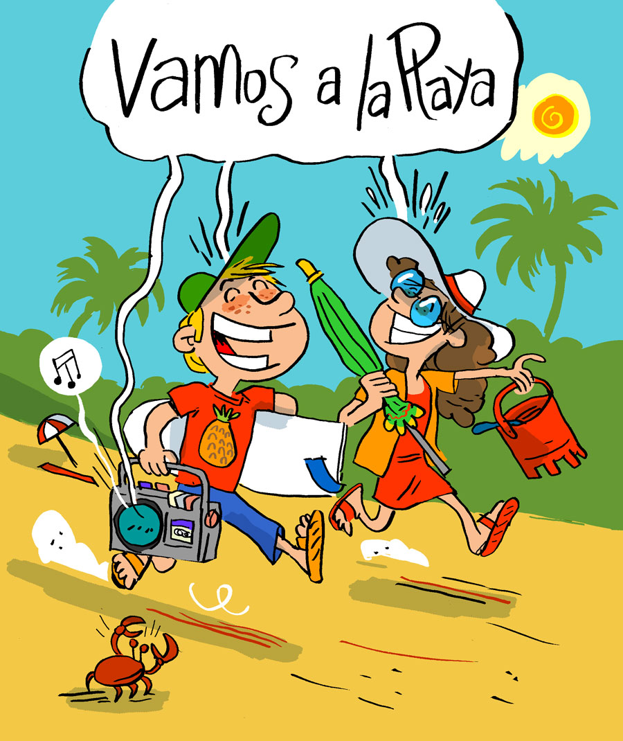 Illustration vamos a la playa