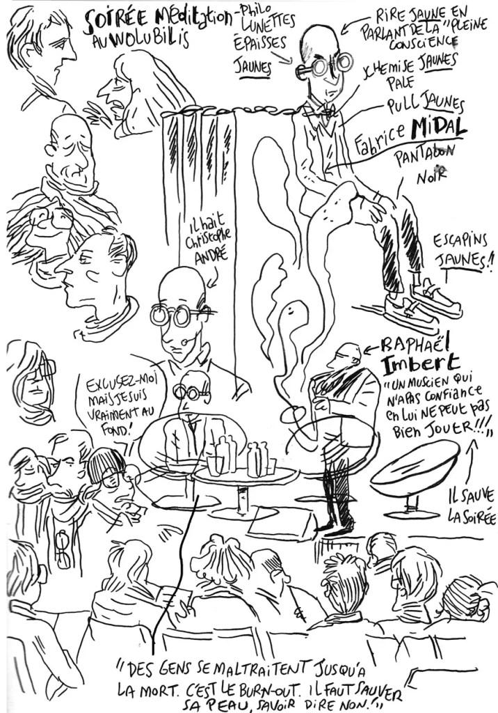 Midal et la méditation - sketchnoting de Vincent Rif