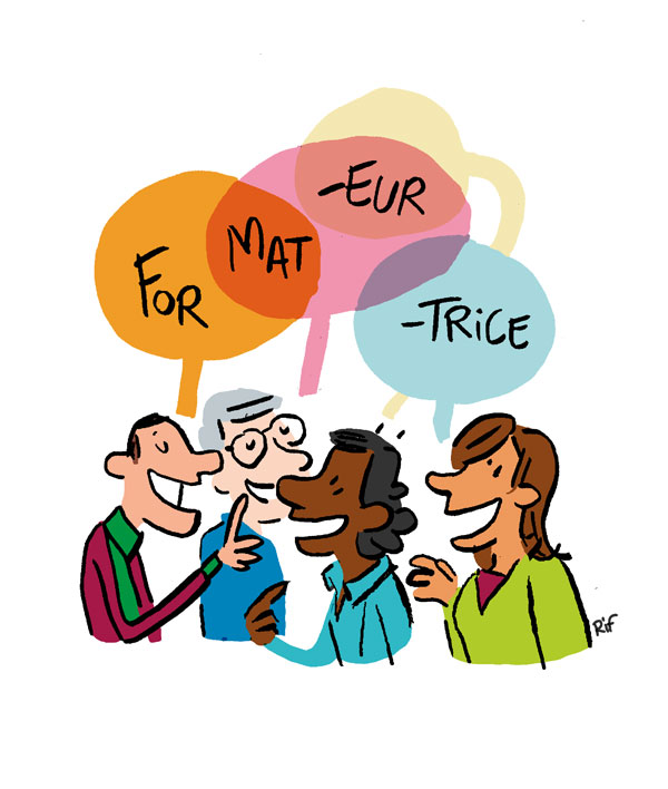 Formteur, formatrice, par le dialogue - illustration de Vincent Rif