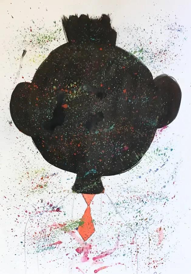 Caricature de Charles Michel par un enfant.