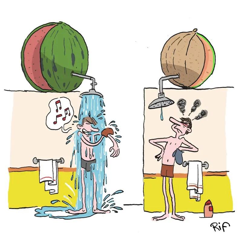 Y-a-t-il plus d'eau dans une pastèque ou un melon ? Illustration